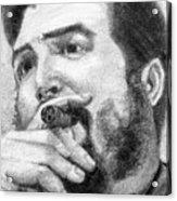 El Che Acrylic Print by Roberto Valdes Sanchez