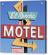 El Rancho Motel Stockton Ca Acrylic Print by Troy Montemayor