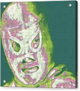 El Santo The Masked Wrestler 20130218v2m80 Acrylic Print by Wingsdomain Art and Photography