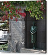 Eleanor's Alcove At The Fdr Memorial In Washington Dc Acrylic Print by William Kuta