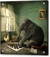 Elephant Chess Acrylic Print by Ethiriel  Photography