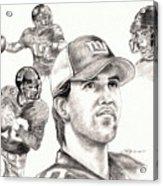 Eli Manning Acrylic Print by Kathleen Kelly Thompson