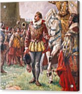 Elizabeth I The Warrior Queen Acrylic Print by CL Doughty