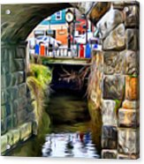 Ellicott City Bridge Arch Acrylic Print by Stephen Younts