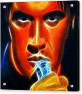 Elvis Presley Acrylic Print by Pamela Johnson