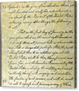 Emancipation Proc., P. 1 Acrylic Print by Granger