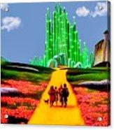 Emerald City Acrylic Print by Tom Zukauskas