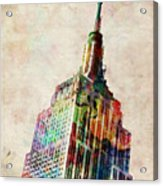 Empire State Building Acrylic Print by Michael Tompsett