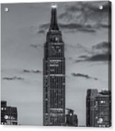 Empire State Building Morning Twilight Iv Acrylic Print by Clarence Holmes