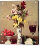 Engagement Bouquet Acrylic Print by Ignace Henri Jean Fantin-Latour
