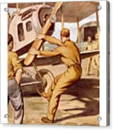 Enlist In The Air Service Acrylic Print by War Is Hell Store
