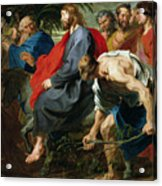 Entry Of Christ Into Jerusalem Acrylic Print by Sir Anthony van Dyke