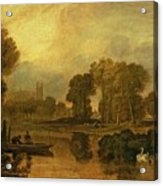Eton College From The River Acrylic Print by Joseph Mallord William Turner