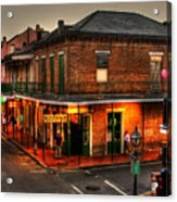 Evening On Bourbon Acrylic Print by Greg and Chrystal Mimbs