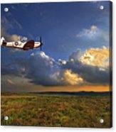 Evening Spitfire Acrylic Print by Meirion Matthias