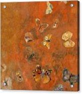 Evocation Of Butterflies Acrylic Print by Odilon Redon