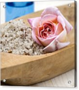 Exfoliating Body Scrub From Sea Salt And Rose Petals Acrylic Print by Frank Tschakert