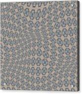 Fabric Design 12 Acrylic Print by Karen Musick