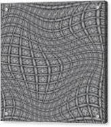 Fabric Design 19 Acrylic Print by Karen Musick