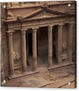 Facade Of The Treasury In Petra, Jordan Acrylic Print by Richard Nowitz