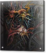 Face Machine Acrylic Print by Frank Robert Dixon