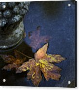 Fall At The Fountain Acrylic Print by Rebecca Cozart