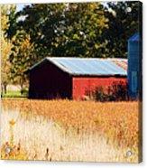 Fall Bin Acrylic Print by Jame Hayes