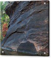Fall Colors Peek Around Mountain Horizontal Number 1 Acrylic Print by Heather Kirk