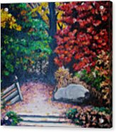 Fall In Quebec Canada Acrylic Print by Karin  Dawn Kelshall- Best