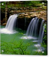 Falling Water Falls Acrylic Print by Marty Koch