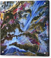 Falls Acrylic Print by Pam Ellis