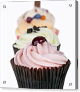 Fancy Cupcakes Acrylic Print by Jane Rix