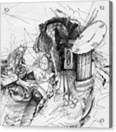 Fantasy Drawing 3 Acrylic Print by Svetlana Novikova
