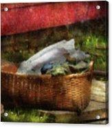 Farm - Laundry  Acrylic Print by Mike Savad