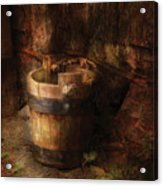 Farm - Pail - An Old Pail Acrylic Print by Mike Savad