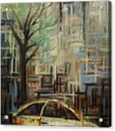 Fast City II Acrylic Print by Janel Bragg