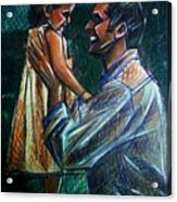 Father And Daughter Acrylic Print by Paulo Zerbato