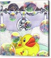 Feelin Ducky Acrylic Print by Catherine G McElroy