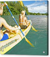 Female Kayakers Acrylic Print by Kicka Witte - Printscapes