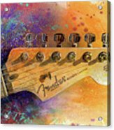 Fender Head Acrylic Print by Andrew King