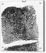 Fingerprints Of Vincenzo Peruggia, Mona Acrylic Print by Photo Researchers