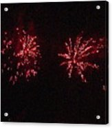 Fire Works Show Stippled Paint 6 Canada Acrylic Print by Dawn Hay
