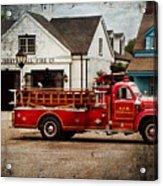 Fireman - Newark Fire Company Acrylic Print by Mike Savad