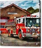Fireman - Union Fire Company 1  Acrylic Print by Mike Savad