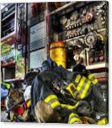 Fireman - Always Ready For Duty Acrylic Print by Lee Dos Santos