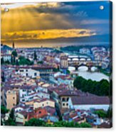 Firenze Sunset Acrylic Print by Inge Johnsson