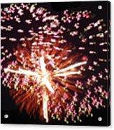 Fireworks Fun Acrylic Print by Debra     Vatalaro