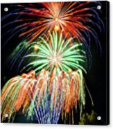 Fireworks No.1 Acrylic Print by Niels Nielsen