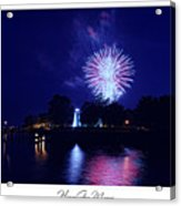 Fireworks Over Concord Point Lighthouse Havre De Grace Maryland Prints For Sale Acrylic Print by Michael Grubb