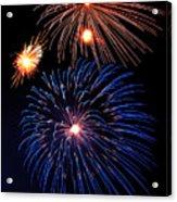 Fireworks Wixom 1 Acrylic Print by Michael Peychich